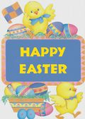 Easter Card-Chicks With Eggs